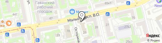 Отдел надзорной деятельности Василеостровского района на карте Санкт-Петербурга