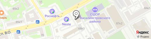 Профи на карте Санкт-Петербурга