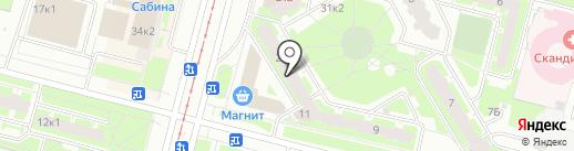Вишня на карте Санкт-Петербурга