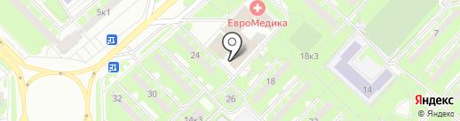 Аэробика Черлидинг Фитнес на карте Санкт-Петербурга