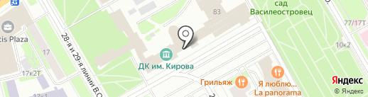 Львёнок на карте Санкт-Петербурга