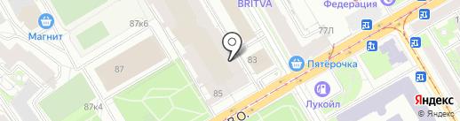Модерн на карте Санкт-Петербурга