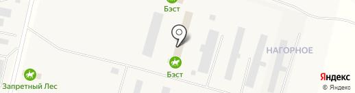 Бэст на карте Малого Карлино