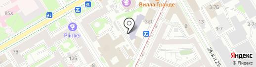 Валентина, ЗАО на карте Санкт-Петербурга