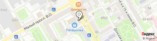 АВЕНТИНН на карте Санкт-Петербурга