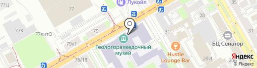 Всероссийская геологическая библиотека на карте Санкт-Петербурга