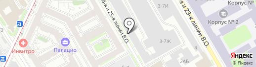 Барс-профиль на карте Санкт-Петербурга