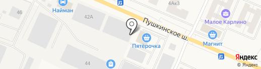 Найман сервис на карте Малого Карлино
