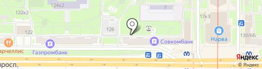 Ленинский 128 на карте Санкт-Петербурга