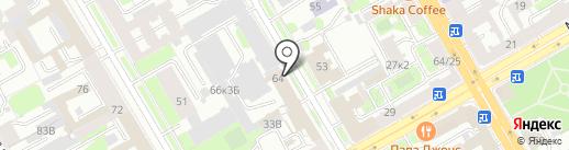 Нотариус Антонова Е.В. на карте Санкт-Петербурга