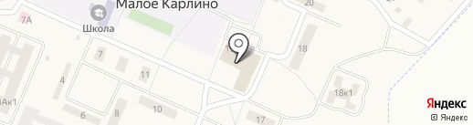Верный на карте Малого Карлино