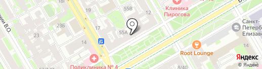 Управление Комитета финансов по Василеостровскому району на карте Санкт-Петербурга
