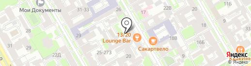 Дом молодежи г. Санкт-Петербурга на карте Санкт-Петербурга