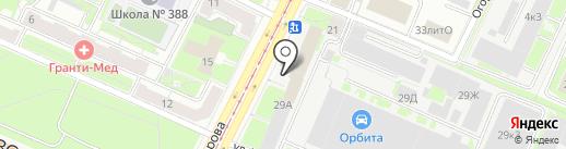 ЕВРОНАУТИК ЭКСПРЕСС на карте Санкт-Петербурга