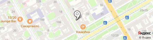 Стеклянное небо на карте Санкт-Петербурга