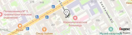ЛИМБ, ЗАО на карте Санкт-Петербурга