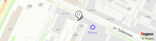 Компания Кармент на карте Санкт-Петербурга
