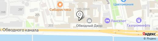 Архистрой на карте Санкт-Петербурга