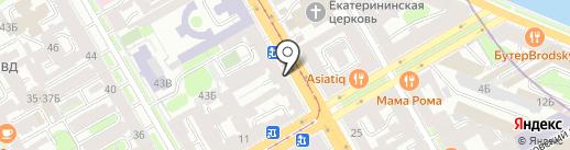 Прометей на карте Санкт-Петербурга