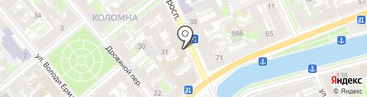 Ветроком на карте Санкт-Петербурга
