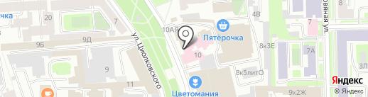 ЛАРГА РУ на карте Санкт-Петербурга