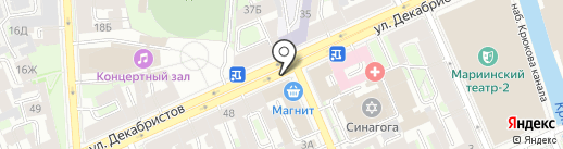 Каро на карте Санкт-Петербурга