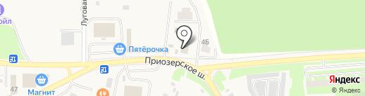 Магазин хозяйственных товаров на Приозерском шоссе (Всеволожский район) на карте Агалатово