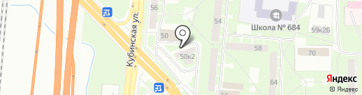 Краснопутиловская 50-1, ТСЖ на карте Санкт-Петербурга