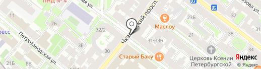 Салюс на карте Санкт-Петербурга