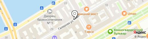 Санкт-Петербургская городская организация Профсоюза работников агропромышленного комплекса РФ на карте Санкт-Петербурга