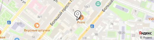 Галерея Третьякова на карте Санкт-Петербурга