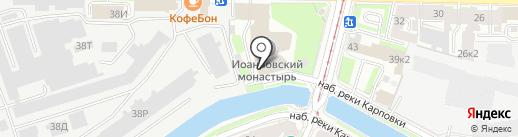 Иоанновский Ставропигиальный женский монастырь на карте Санкт-Петербурга