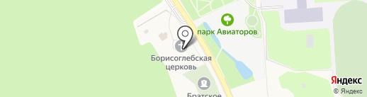 Церковь Святых благоверных князей страстотерпцев Бориса и Глеба на карте Агалатово