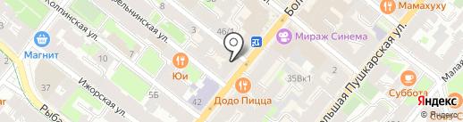 Tanya Kotegova на карте Санкт-Петербурга