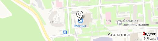 Магазин брюк на ул. Агалатово на карте Агалатово