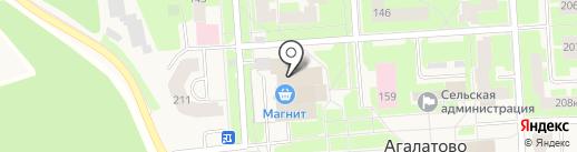 Магазин вечерних платьев на ул. Агалатово на карте Агалатово