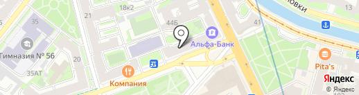 Почтовое отделение №22 на карте Санкт-Петербурга