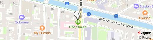 Ореол на карте Санкт-Петербурга