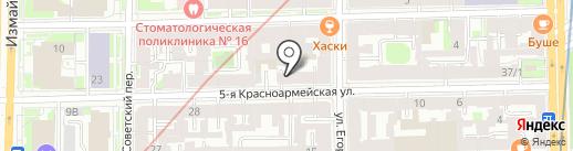 Нотариус Сидельникова Т.Ю. на карте Санкт-Петербурга