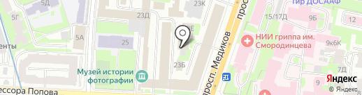 Гайот на карте Санкт-Петербурга
