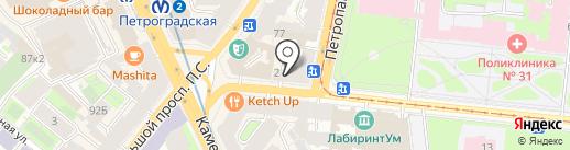 Miкс на карте Санкт-Петербурга