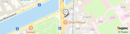 КОНТИНЕНТ СВЯЗЬ на карте Санкт-Петербурга