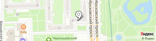 Мособлбанк, ПАО на карте Санкт-Петербурга