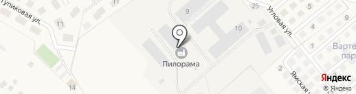 Пилорама в д. Вартемяги на карте Вартемяг
