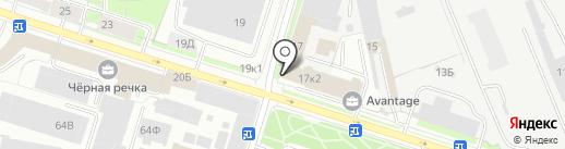 Оконный Петербург на карте Санкт-Петербурга