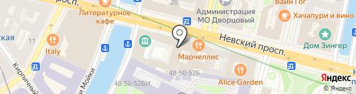 Denero на карте Санкт-Петербурга