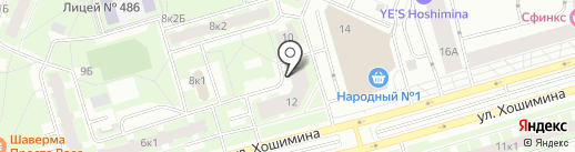 Хошимина 12, ТСЖ на карте Санкт-Петербурга