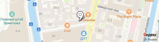 Вернисаж на карте Санкт-Петербурга