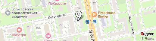 Мото 66 на карте Санкт-Петербурга