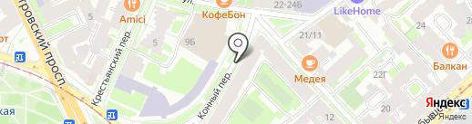 Стоматологическая клиника доктора Ходакова на карте Санкт-Петербурга